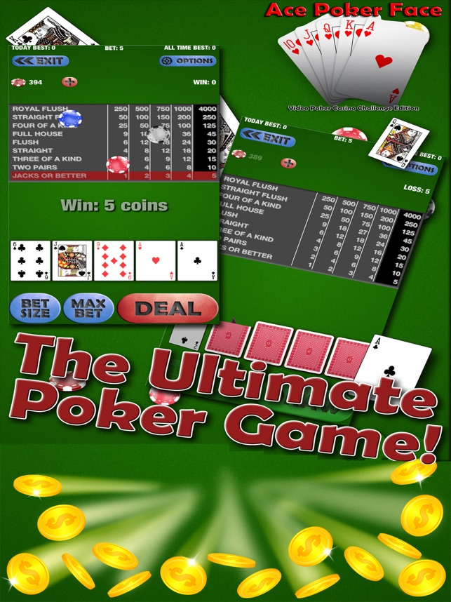 Ace Video Poker Casino Games On The App Store