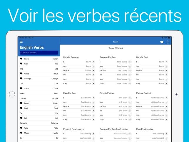 Quickverbes Anglais Dans L App Store