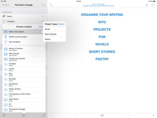 Writing Shed Screenshots