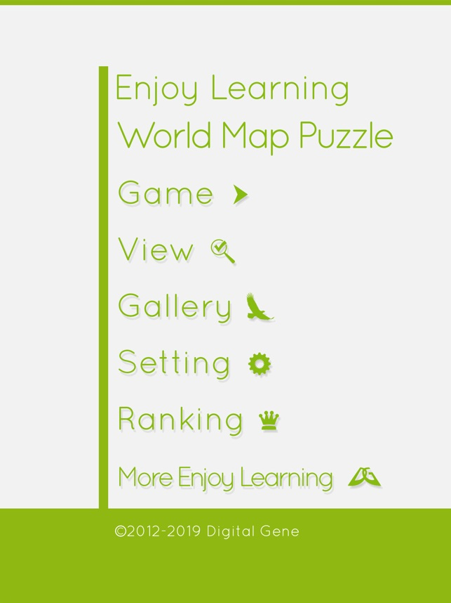 EnjoyLearning World Map Puzzle on the App Store