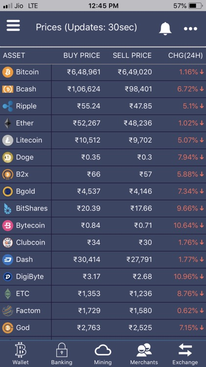 Bitcoin India Wallet &Exchange screenshot-3