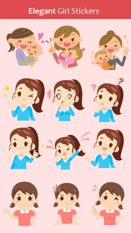 Girls Cute Stickers Pack