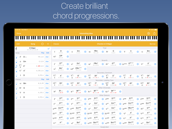Suggester - Chord Progression Tool and Musical Scale Reference screenshot
