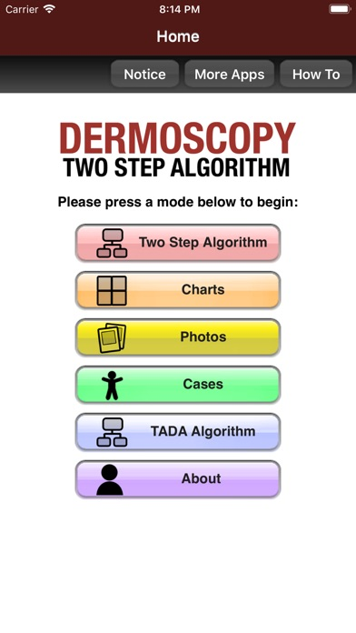 Screenshot for Dermoscopy Two Step Algorithm in Denmark App Store