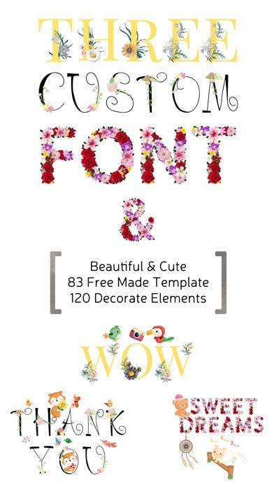 CUFON - Custom Flower Font screenshot 1