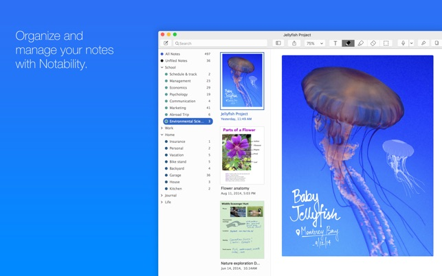 ‎Notability Screenshot