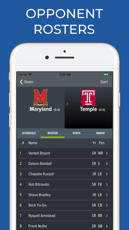 Maryland Football Schedules screenshot-7