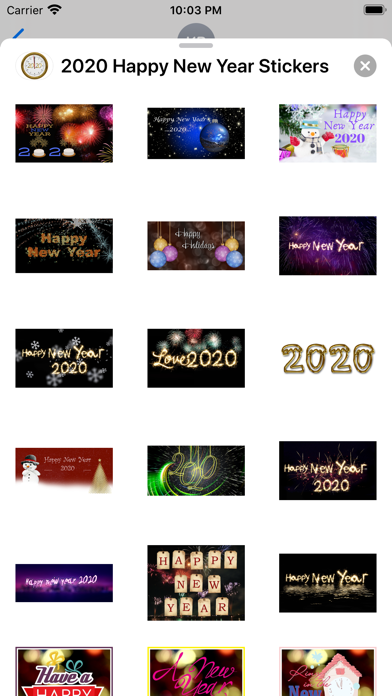 2020 Happy New Year Stickers screenshot 3