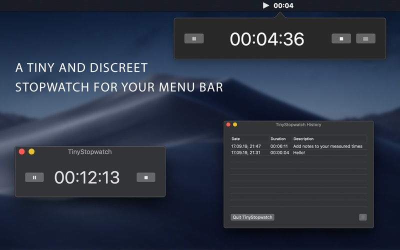 TinyStopwatch for Mac