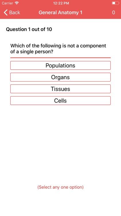 Anatomy and Physiology Quiz screenshot-3