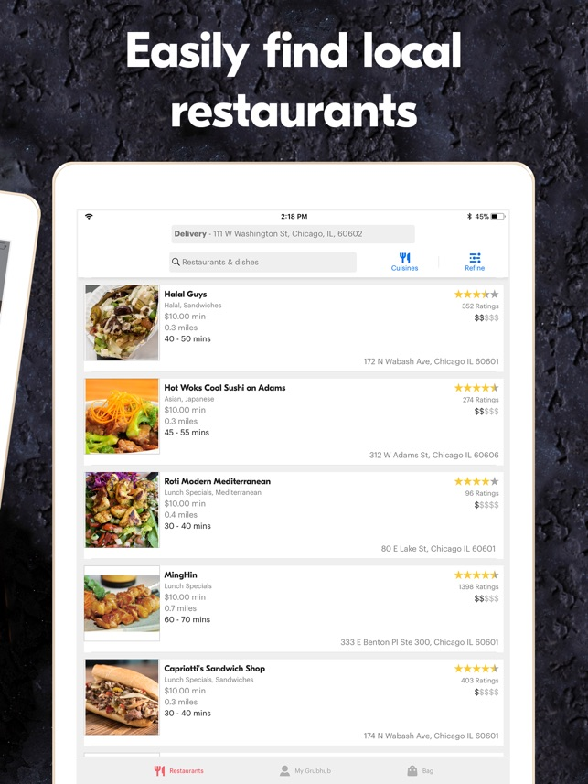 Grubhub: Local Food Delivery on the App Store
