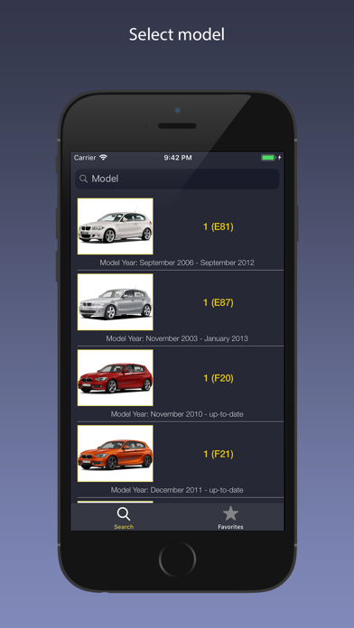 AutoParts for BMW cars Screenshot