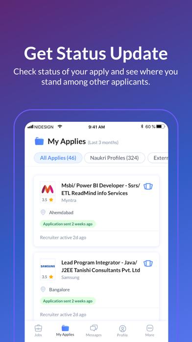 Screenshot #3 pour Naukri.com Job Search