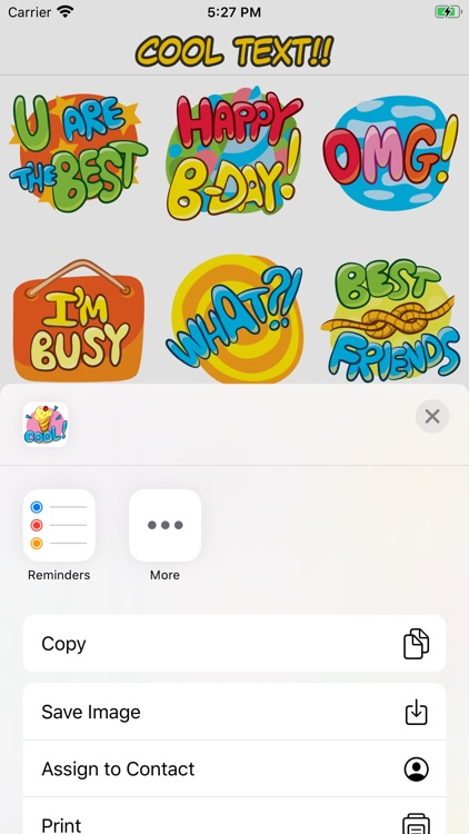 Cool Text Stickers screenshot-4