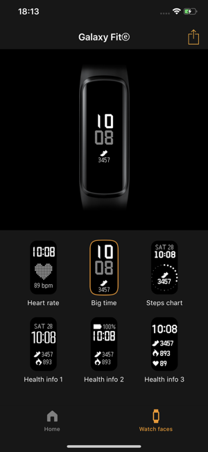 ?Samsung Galaxy Fit (Gear Fit) Screenshot