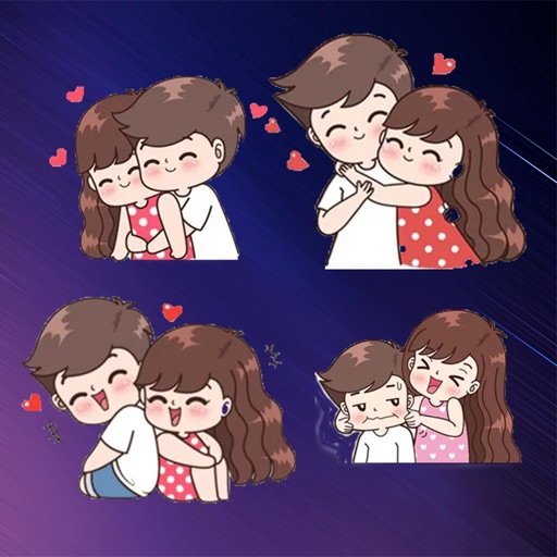 romantic Couple Stickers HD