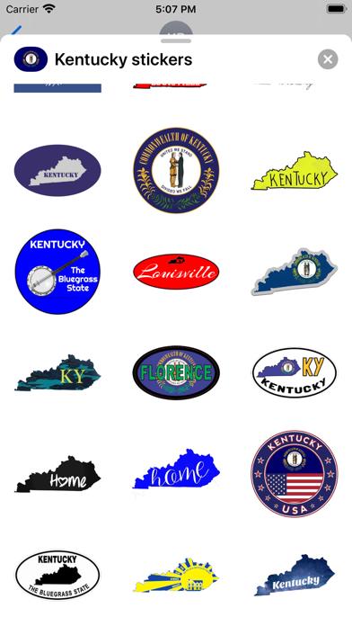 Kentucky emojis - USA stickers screenshot 4