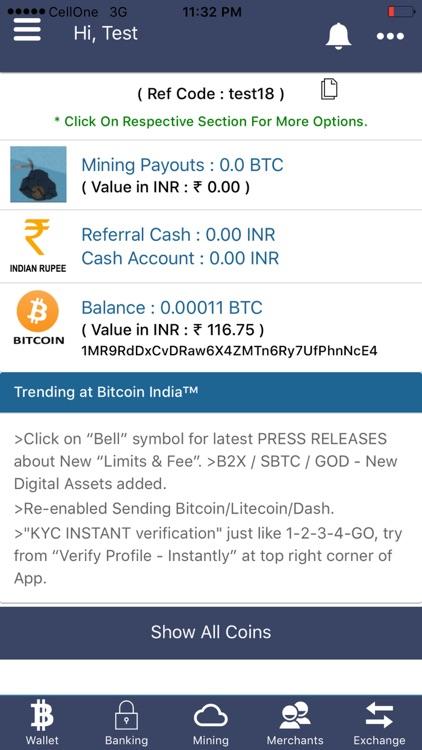Bitcoin India Wallet &Exchange screenshot-4