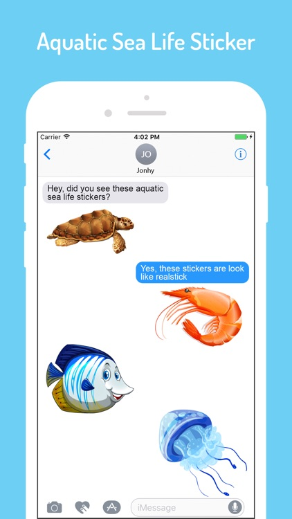 Aqua Sea Life EMojis screenshot-2