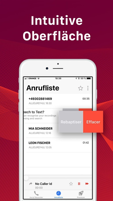 Screenshot for Aufnahme App - Call Recorder in Austria App Store