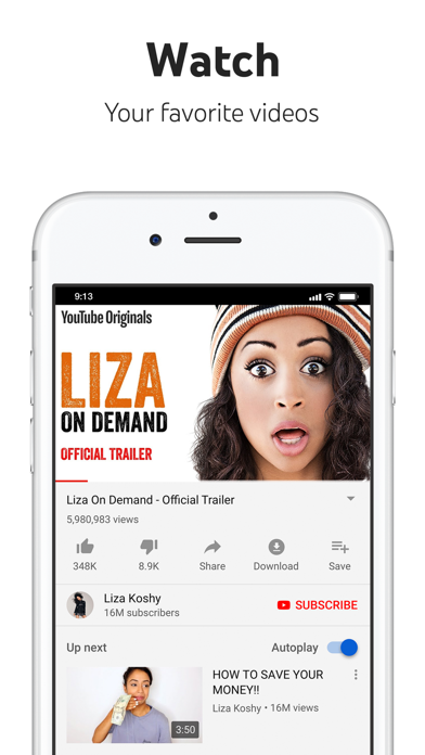 Screenshot for YouTube: Watch, Listen, Stream in United Arab Emirates App Store