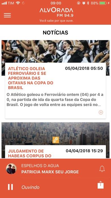 Rádio Alvorada FM | BH screenshot three