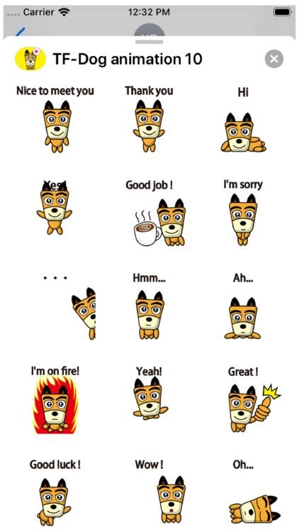 TF-Dog 10 Animation Stickers screenshot-3