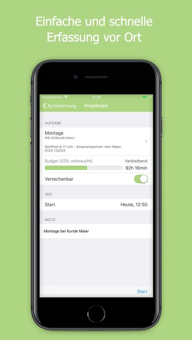 Screenshot for timr - Zeiterfassung unterwegs in Austria App Store