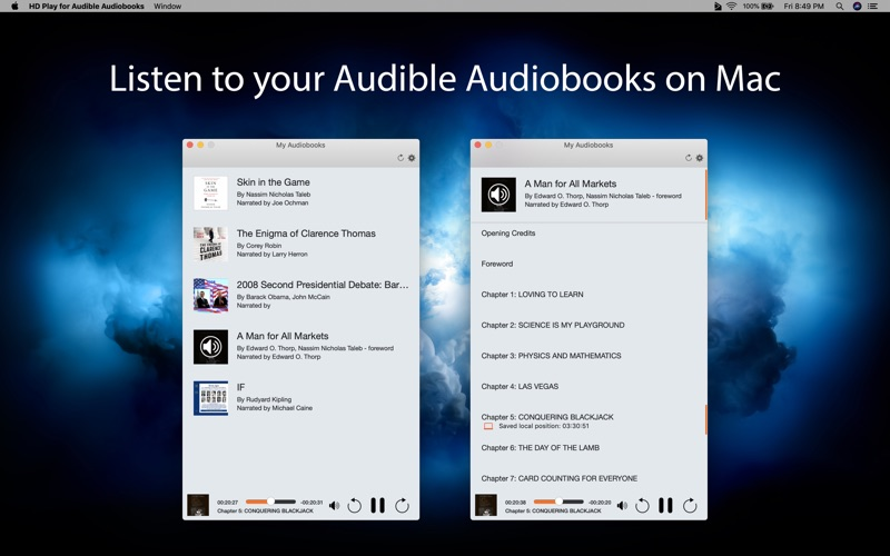 HD Play for Audible Audiobooks for Mac