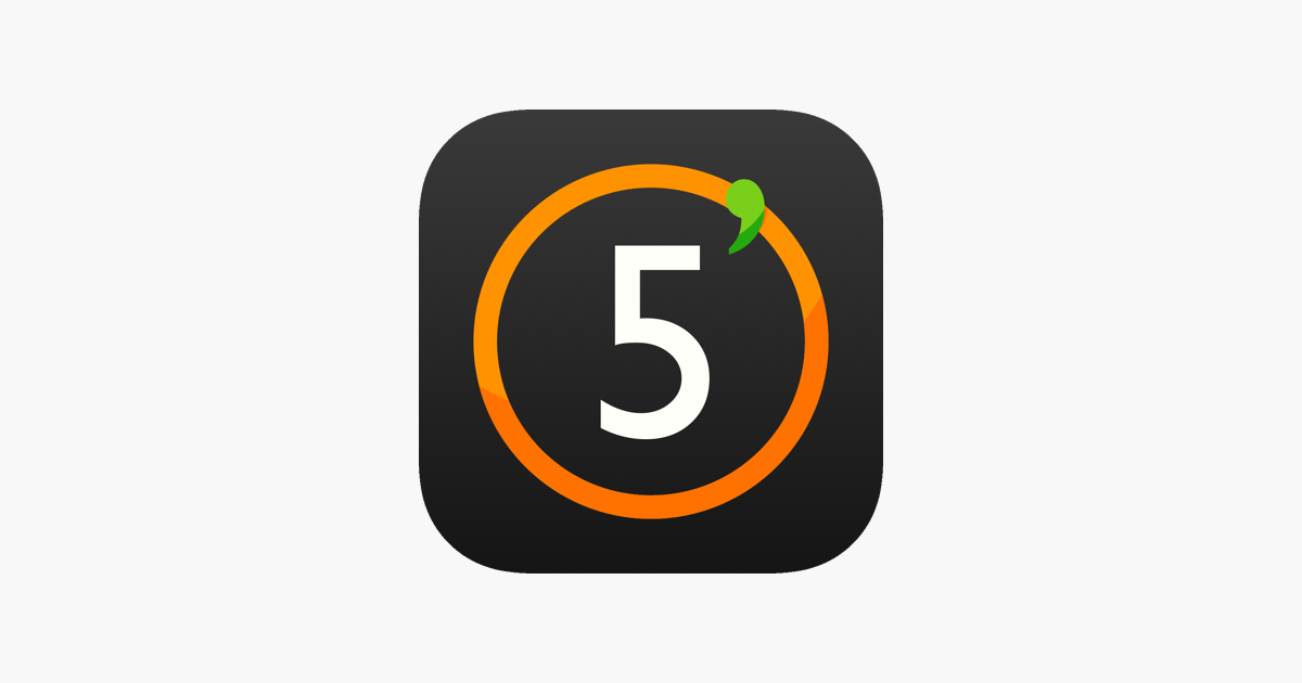 5 minutes countdown timer on the App Store