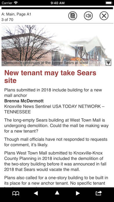 Knoxville News Print Edition Screenshot on iOS