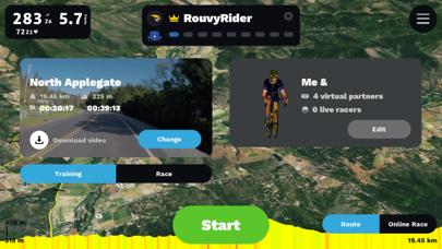 Rouvy AR Screenshot