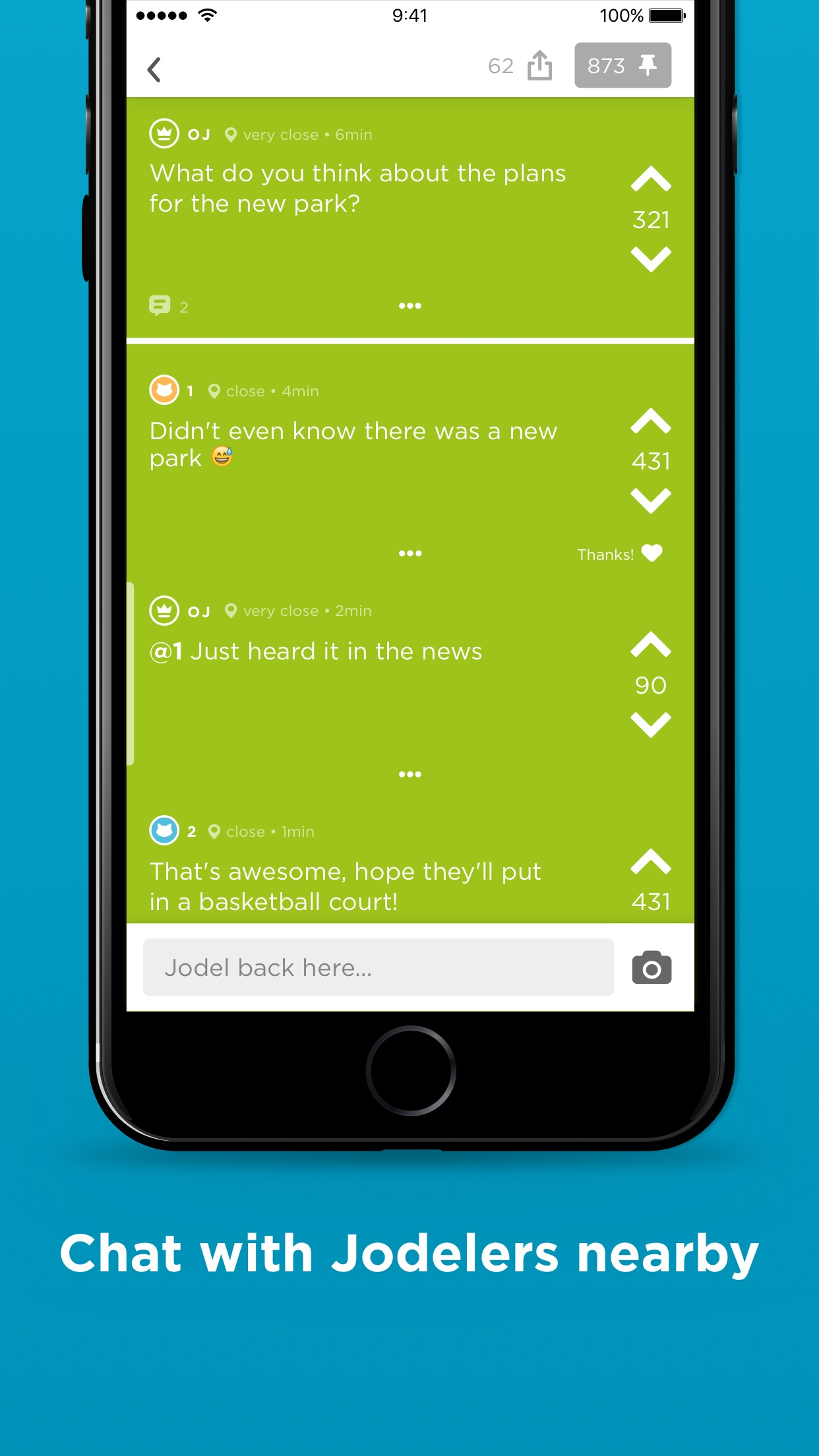 Jodel - Hyperlocal Community Screenshot