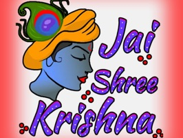 Jay Shree Krishna Stickers by Keyurbhai Thumar