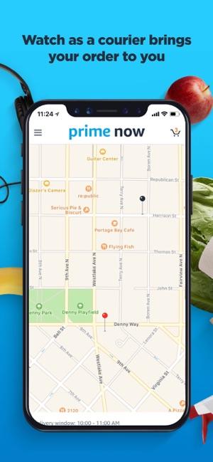 Amazon Prime Now on the App Store