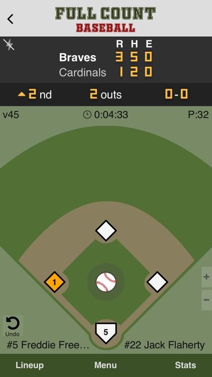 Full Count Baseball Scoring