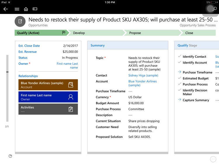 Microsoft Dynamics 365 screenshot-2