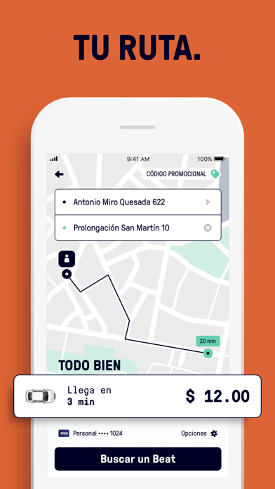 Screenshot for Beat - Ride app in Spain App Store
