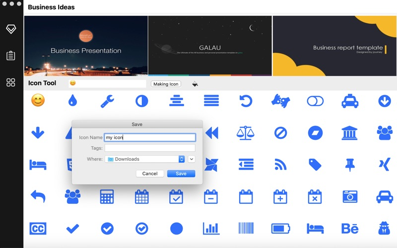 MySlides - Icon and Theme tool for Mac