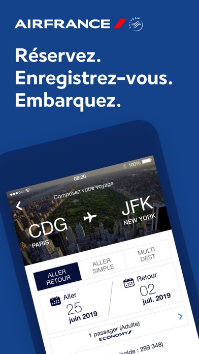 messages.download Air France software