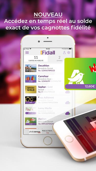 Fidall loyalty cards screenshot one