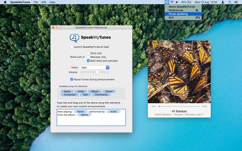 SpeakMyTunes Screenshot