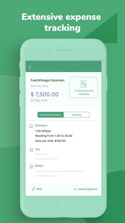 Invoice & Time Tracking - Zoho screenshot-5