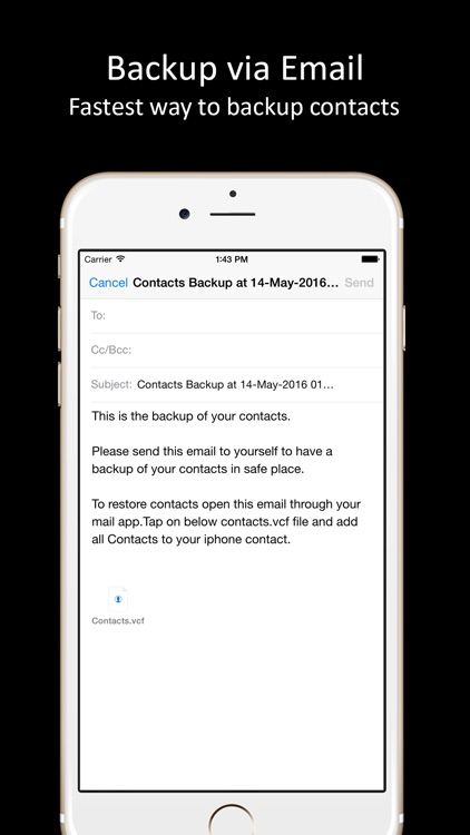 Contacts Backup - One tap