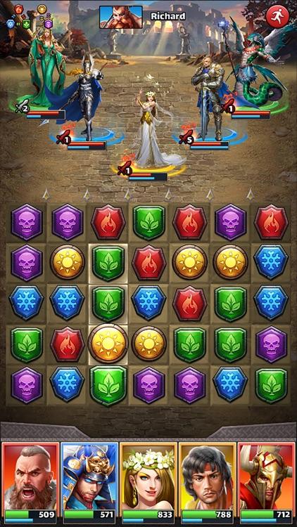 MythWars & Puzzles:RPG Match 3 screenshot-7