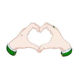 Saint Patrick Hand Gestures