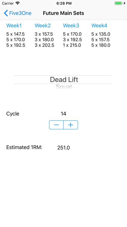5/3/1 Workout logger - 531 screenshot-7