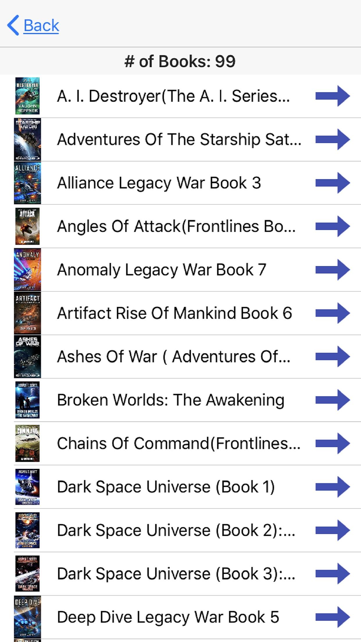 Screenshot do app My Books Read