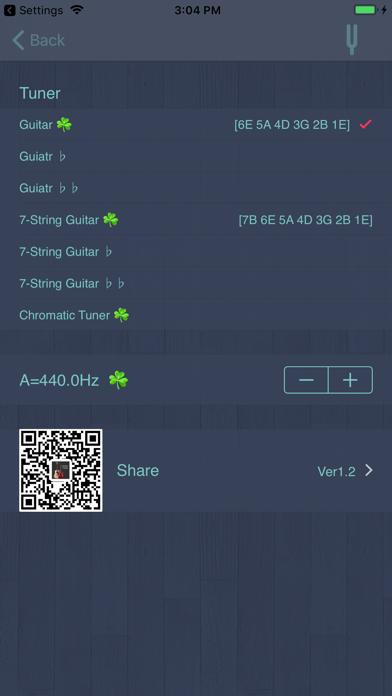 X Guitar Tuner Pro screenshot three