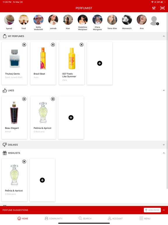 PERFUMIST Perfumes Advisor screenshot